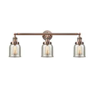 Small Bell Antique Copper Three-Light Adjustable Bath Vanity
