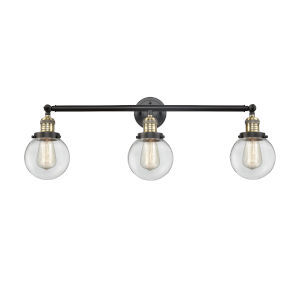 Franklin Restoration Black Antique Brass Three-Light Bath Vanity