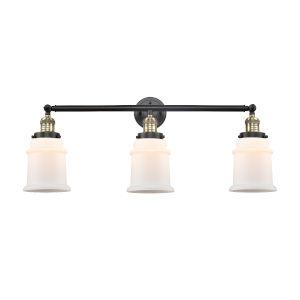 Canton Black Antique Brass Three-Light LED Bath Vanity