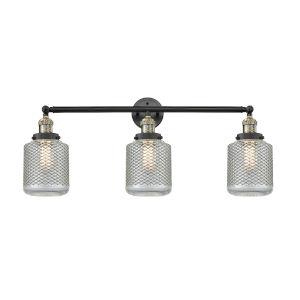 Stanton Black Antique Brass Three-Light LED Bath Vanity
