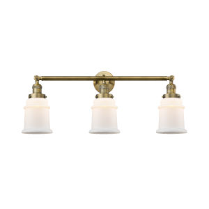 Canton Brushed Brass Three-Light Bath Vanity