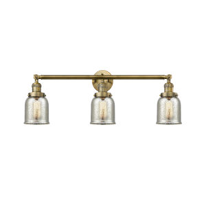 Small Bell Brushed Brass Three-Light Adjustable Bath Vanity