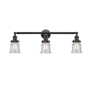 Franklin Restoration Oil Rubbed Bronze 30-Inch Three-Light LED Bath Vanity with Seedy Canton Shade