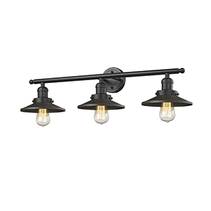 Railroad Oiled Rubbed Bronze Three-Light LED Bath Vanity
