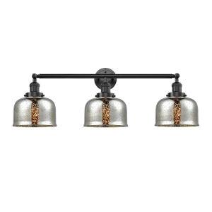 Large Bell Oil Rubbed Bronze Three-Light Adjustable Bath Vanity
