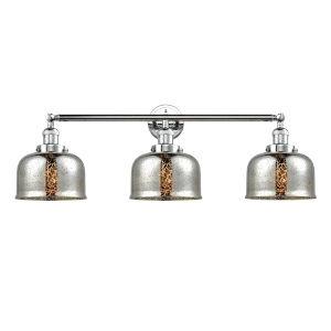 Large Bell Polished Chrome Three-Light Adjustable Bath Vanity