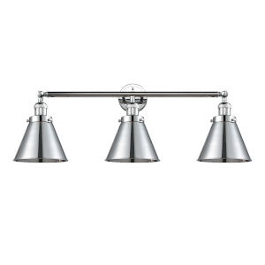 Appalachian Polished Chrome Three-Light Bath Vanity