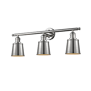 Addison Polished Nickel Three-Light LED Bath Vanity
