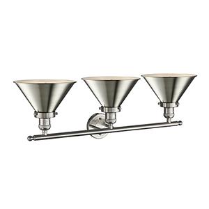 Briarcliff Brushed Satin Nickel Three-Light LED Bath Vanity