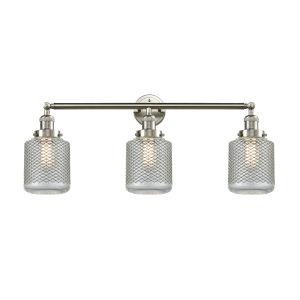 Stanton Brushed Satin Nickel Three-Light LED Bath Vanity