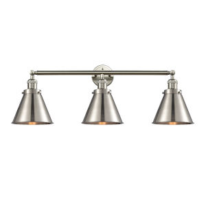 Appalachian Brushed Satin Nickel Three-Light LED Bath Vanity