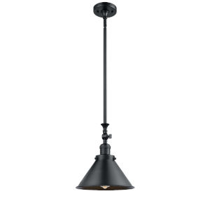 Franklin Restoration Matte Black 10-Inch One-Light Pendant with Matte Black Metal Shade