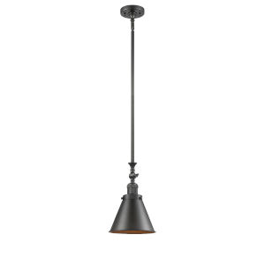 Franklin Restoration Oil Rubbed Bronze LED Mini Pendant with Appalachian Oil Rubbed Bronze Metal Shade and Wire