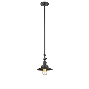 Railroad Oiled Rubbed Bronze 14-Inch LED Mini Pendant