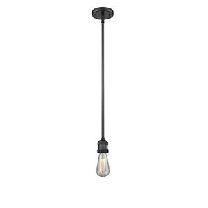 Bare Bulb Black Four-Inch LED Mini Pendant