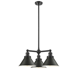 Briarcliff Oiled Rubbed Bronze Three-Light Chandelier with Oil Rubbed Bronze Metal Shade
