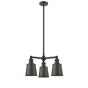 Addison Oiled Rubbed Bronze Three-Light Chandelier