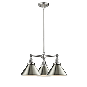 Briarcliff Brushed Satin Nickel Three-Light Chandelier