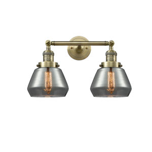 Fulton Antique Brass Two-Light LED Bath Vanity