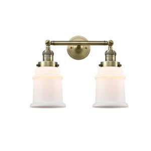Canton Antique Brass Two-Light Bath Vanity