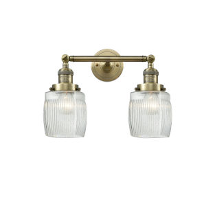 Colton Antique Brass Two-Light LED Bath Vanity