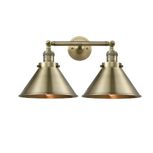 Briarcliff Antique Brass Two-Light Bath Vanity