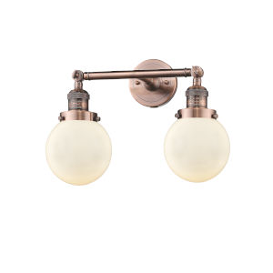 Beacon Antique Copper Two-Light Bath Vanity