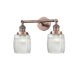 Colton Antique Copper Two-Light Bath Vanity