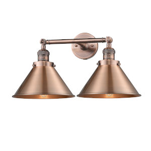 Briarcliff Antique Copper Two-Light Bath Vanity