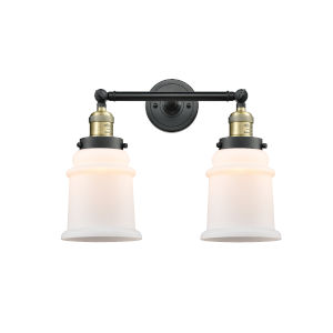 Canton Black Antique Brass Two-Light LED Bath Vanity