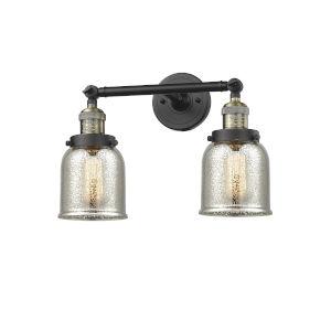 Franklin Restoration Black Antique Brass 15-Inch Two-Light LED Bath Vanity