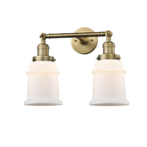 Canton Brushed Brass Two-Light LED Bath Vanity