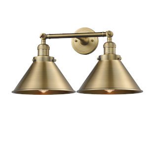 Briarcliff Brushed Brass Two-Light Bath Vanity