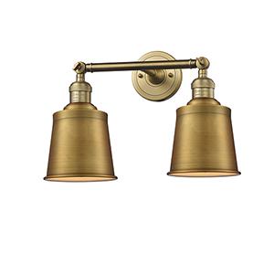 Addison Brushed Brass Two-Light Bath Vanity
