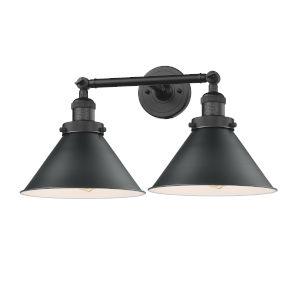 Briarcliff Matte Black Two-Light LED Bath Vanity