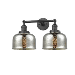 Large Bell Oil Rubbed Bronze Two-Light Bath Vanity
