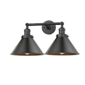 Briarcliff Oil Rubbed Bronze Two-Light Bath Vanity