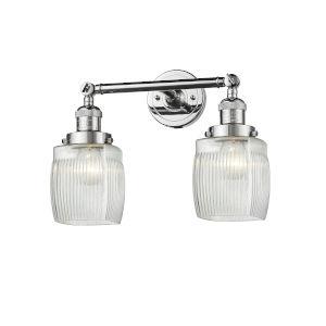 Colton Polished Chrome Two-Light LED Bath Vanity