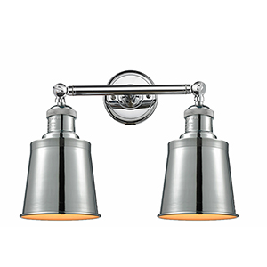Addison Polished Chrome Two-Light LED Bath Vanity