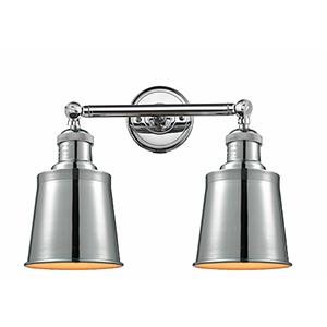 Addison Polished Chrome Two-Light LED Bath Vanity