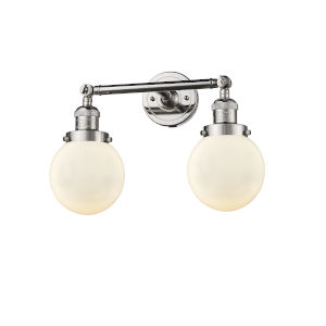 Beacon Polished Nickel Two-Light Bath Vanity