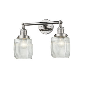 Colton Polished Nickel Two-Light Bath Vanity
