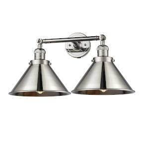 Briarcliff Polished Nickel Two-Light Bath Vanity