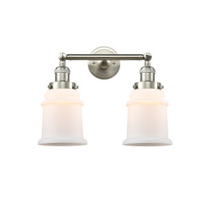 Canton Brushed Satin Nickel Two-Light Bath Vanity