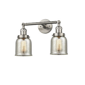 Small Bell Brushed Satin Nickel Two-Light Bath Vanity