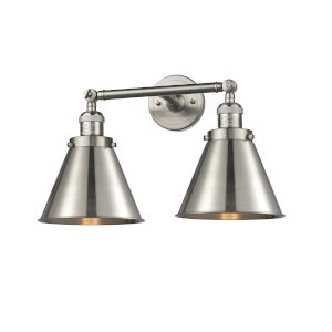 Franklin Restoration Brushed Satin Nickel 18-Inch Two-Light Bath Vanity