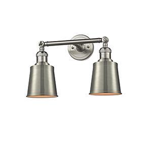 Addison Brushed Satin Nickel 16-Inch Two-Light Bath Vanity