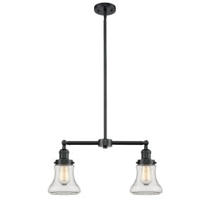 Franklin Restoration Oil Rubbed Bronze 21-Inch Two-Light LED Chandelier with Clear Bellmont Shade