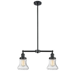 Franklin Restoration Oil Rubbed Bronze 21-Inch Two-Light LED Chandelier with Seedy Bellmont Shade