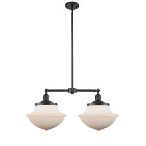 Franklin Restoration Oil Rubbed Bronze 25-Inch Two-Light LED Chandelier